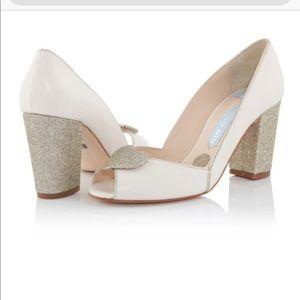 Charlotte Mills Andrea gold bridal heels